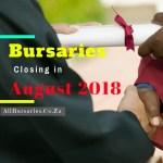 Bursaries Closing in August 2018