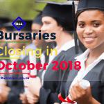 Bursaries Closing October 2018