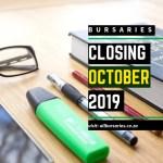 Bursaries Closing in October 2019
