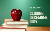 Bursaries Closing in December 2019