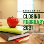 Bursaries Closing in February 2021