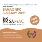 SAMAC NPC Bursary