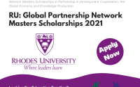 Rhodes University Global Partnership Network Masters Scholarships