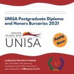 UNISA Postgraduate Diploma and Honors Bursaries 2021