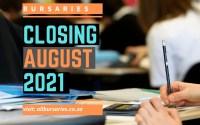 Bursaries Closing in August 2021