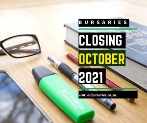 Bursaries Closing in October 2021