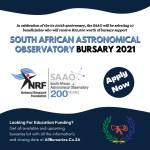 South African Astronomical Observatory (SAAO) Bursary