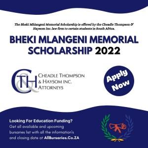 Bheki Mlangeni Memorial Scholarship