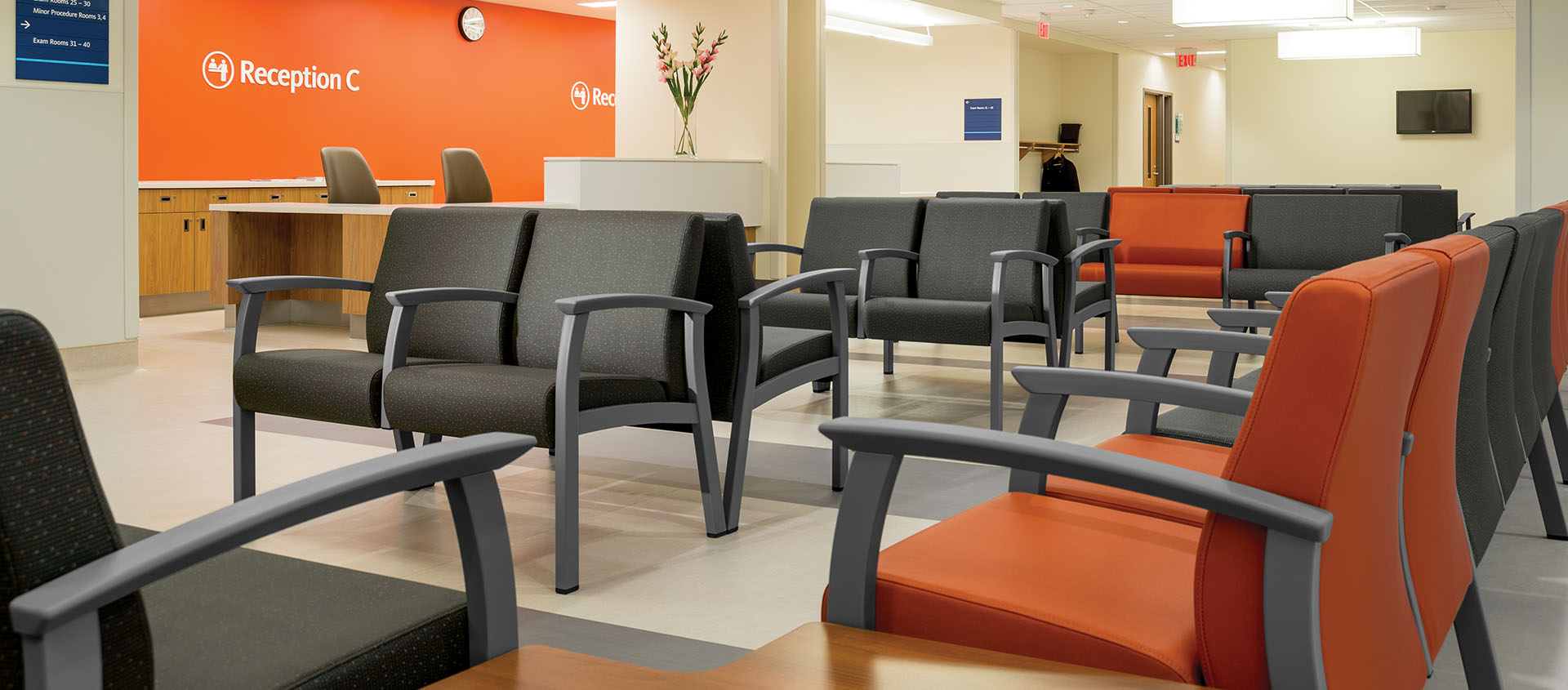 waiting room chairs american flag chair cushions medical practice furniture virginia maryland dc all