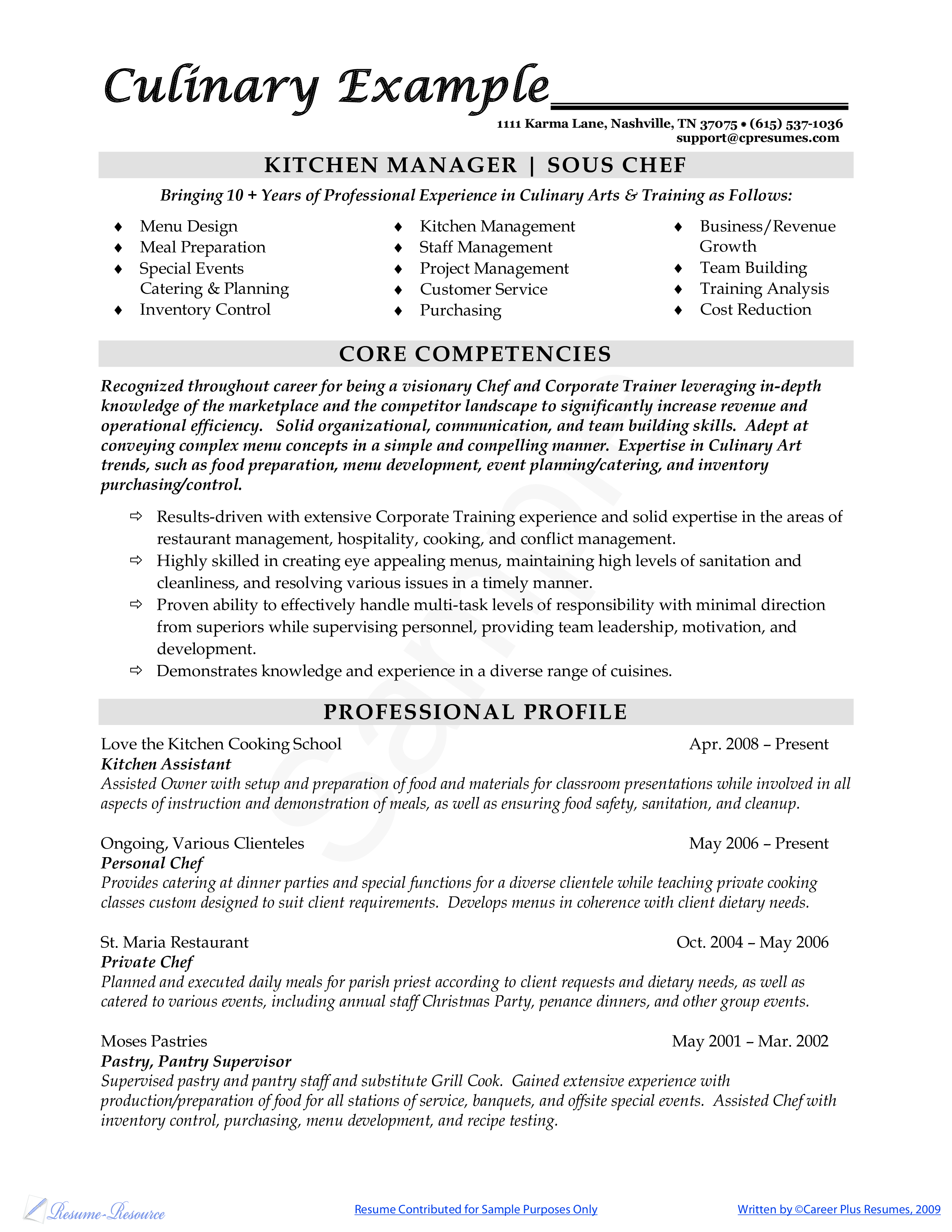Grill Chef Cover Letter