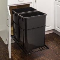 Double 35 Quart Trash Can Pullout