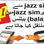 how to share jazz balance
