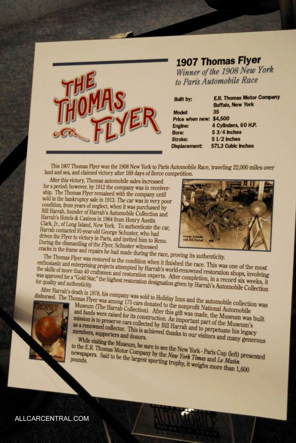 Thomas Flyer And Technical Data