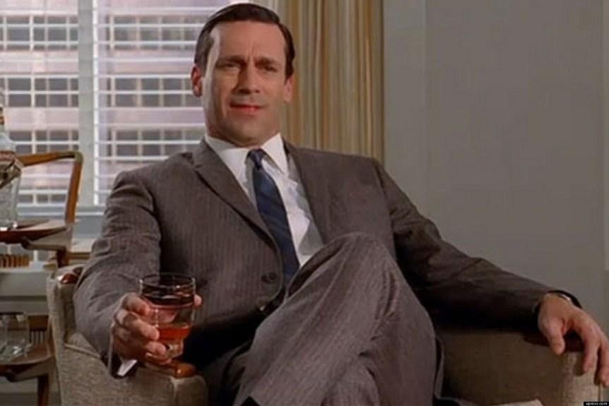Don Draper Drinking At Work