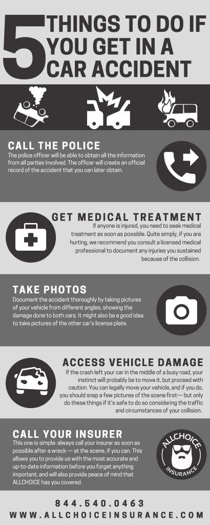 INFOGRAPHIC - 5 Things To Do If You Get In A Car Accident