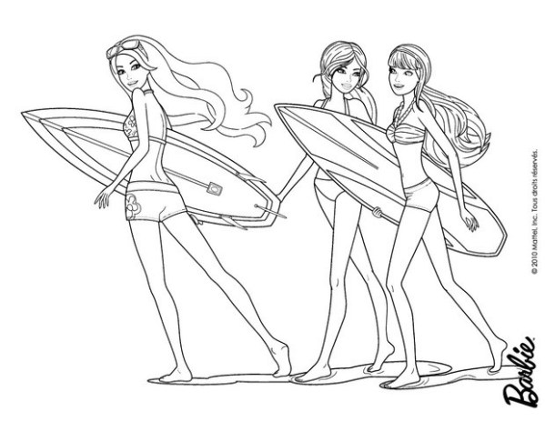 barbie coloring pages free # 52
