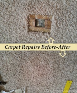 patching carpet before after results