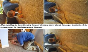 Stretch Carpet and Transition Stripss