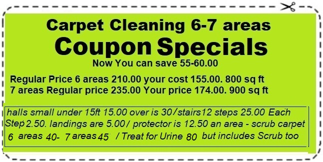 Carpet Cleaning Coupon Specials 6-7 areas