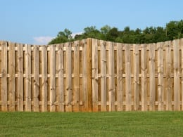 All Counties Fence and Supply Wood Fence in Back Yard of San Bernardio and Riverside Counties