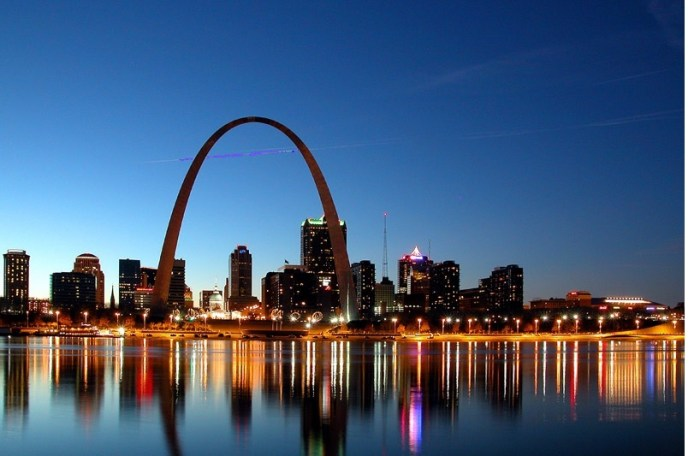 St Louis Riverfront at PM