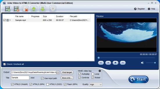 iLike-Video-to-HTML5-Converter-Crack