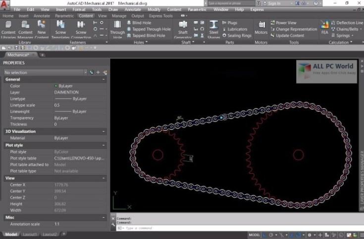 Autodesk-AutoCAD-Mechanical-2017-User-Interface