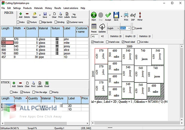 Cutting Optimization Pro 5 for Free Download