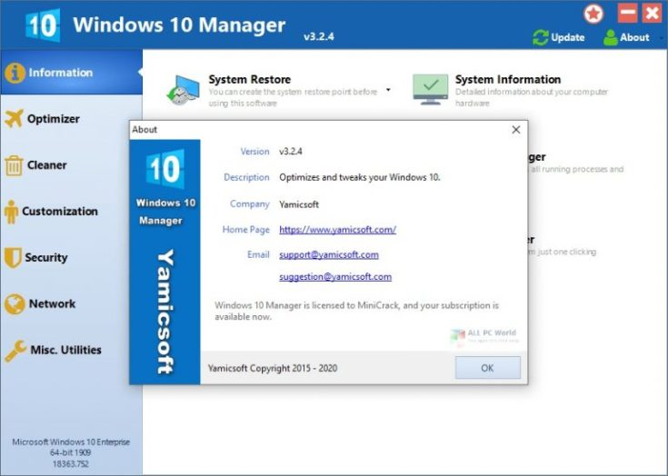 Windows 10 Manager 2021 Free Download
