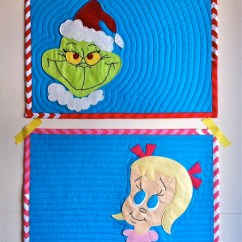 Crochet Christmas Chair Covers Stacking Dining Chairs John Lewis Grinch Placemats Free Pattern – Allcrafts Crafts Update