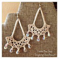 Teardrop Earrings Free Crochet Pattern  AllCrafts Free ...