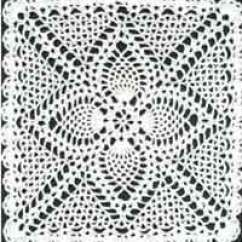 Crochet Doily Patterns With Diagram Honda Motorcycle Alarm Wiring Over 100 Free At Allcrafts Net Square Pineapple