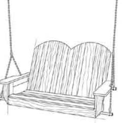 Swing Chair Drawing Distressed Black Dining Chairs Over 100 Free Outdoor Woodcraft Plans At Allcrafts Net Porch