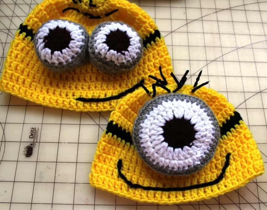 Crochet Despicable Me Minion Inspired Hat All Crafts Channel