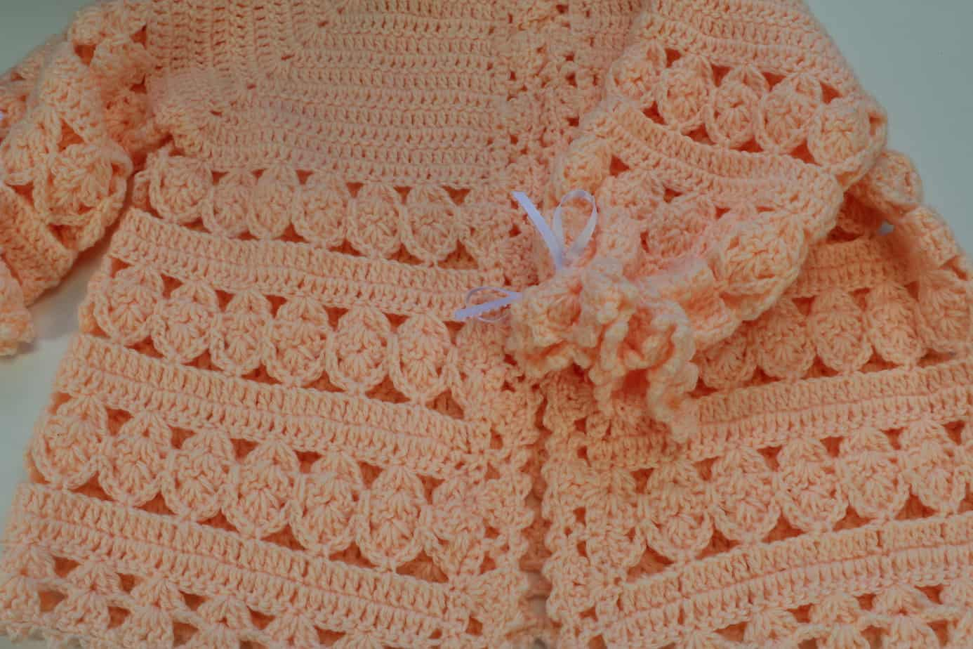 Crochet Baby Cardigan Part Of Layette Set All Crafts Channel Squarecrochetmotifpatterndiagram