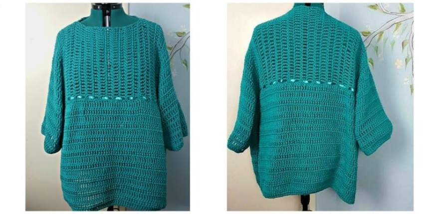 Easy Crochet Plus Size Top