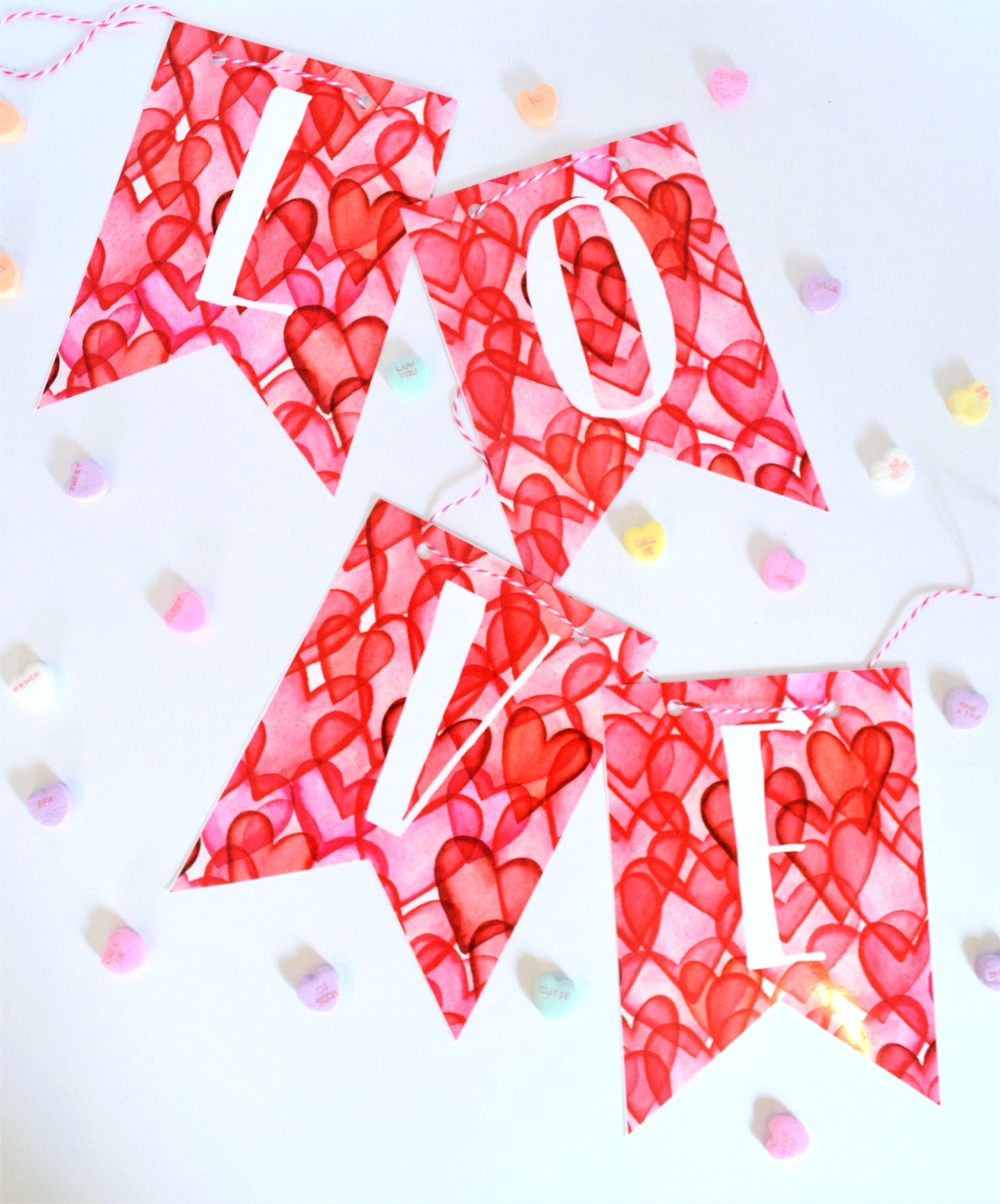 Raining Hearts Valentine S Day Printable