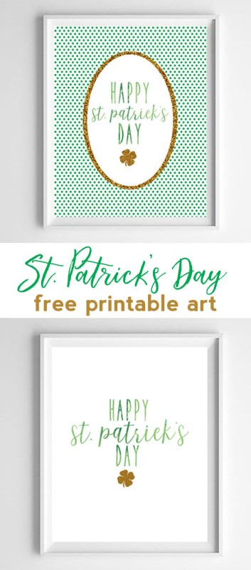 st pattys day printable
