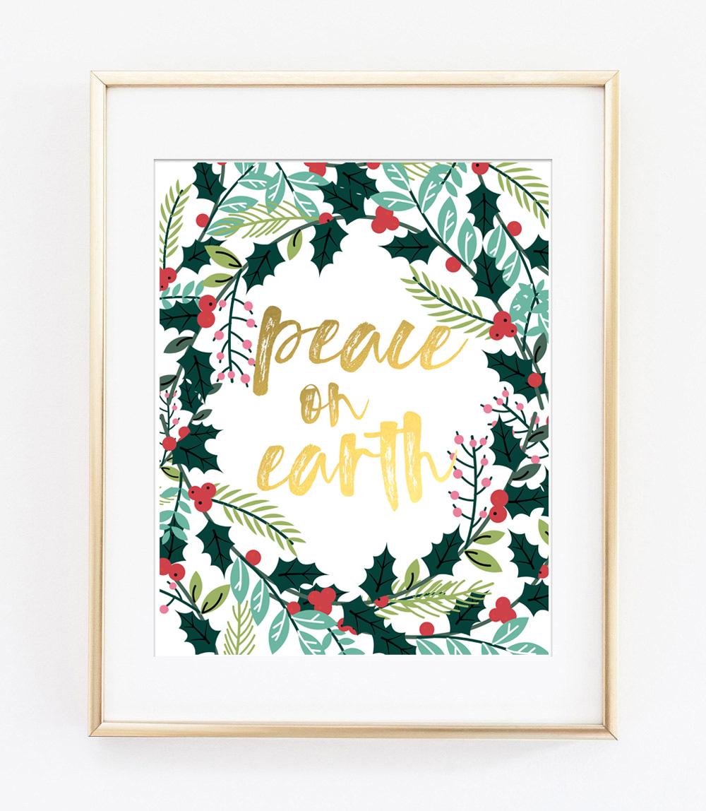 picture about Free Printable Artwork to Frame named Xmas Totally free Printables Xmas Wall Artwork Decor