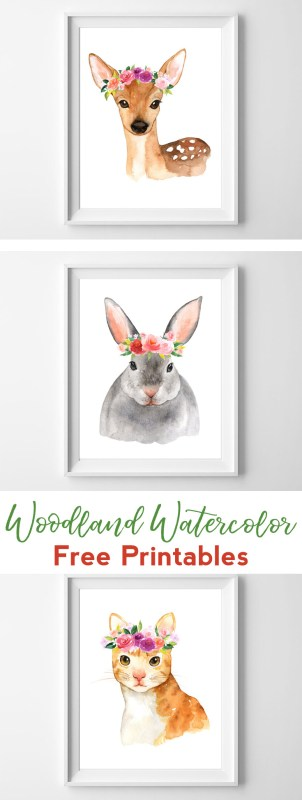 woodland printable art