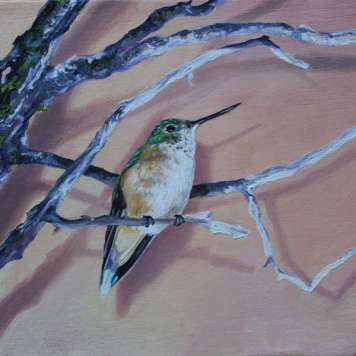 """WINTY, oil on canvas, 6"""" x 6"""""""