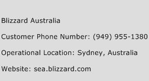 Blizzard Australia Customer Service Phone Number | Contact Number | Toll Free Phone | Contact Address