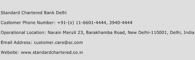 Standard Chartered Bank Delhi Number | Standard Chartered Bank Delhi Customer Care Number | Standard Chartered Bank Delhi Phone Number | Standard ...