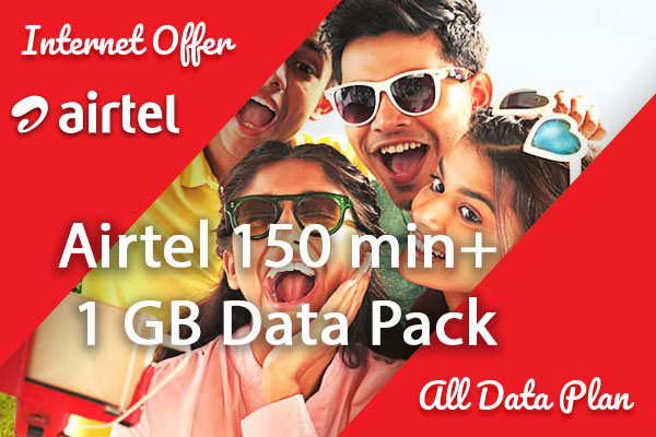 Airtel 150 min+ 1 GB Data Pack