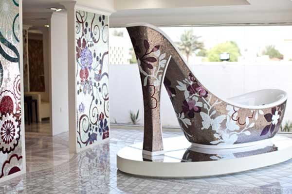 Shoe Shaped Luxury Bathtub Design  AllDayChic