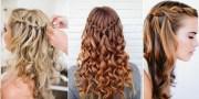 curly hair waterfall braid - alldaychic