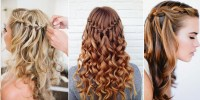 Curly Hair Waterfall Braid - AllDayChic