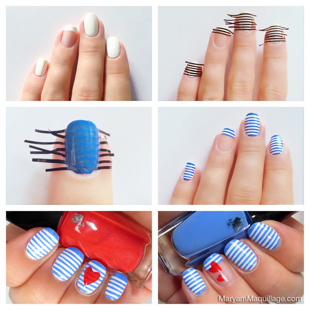 Striped Nails How To Tutorial
