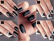 black nail design - diy alldaychic