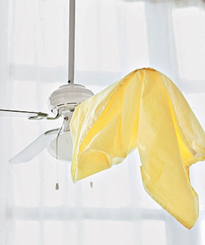 Cleaning Tips & Tricks-Clean Fan Blades With A Pillow Case